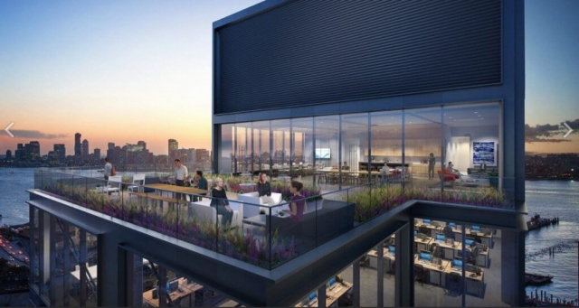 Check out this insane penthouse with floor-to-ceiling windows and outdoor space.
